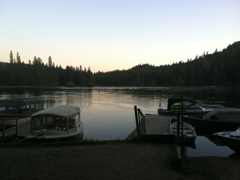Clearwater Lake early dawn at boat tours