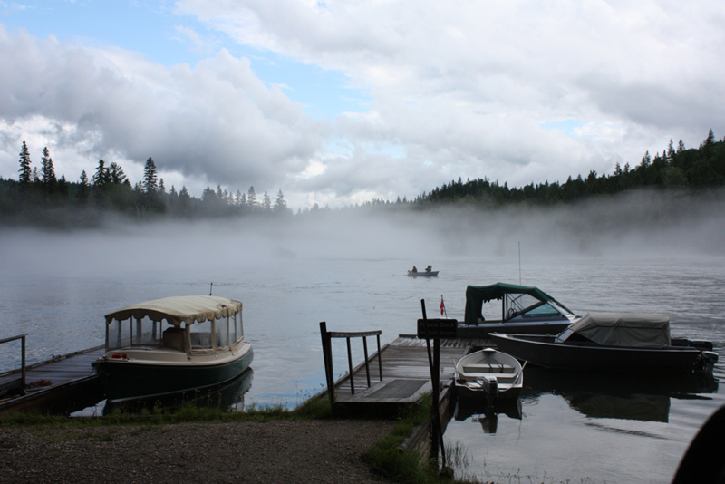 Clearwater Lake misty fisherman