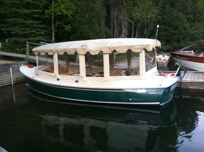 Electric tour boat