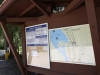 Clearwater Lake campground sign-in board