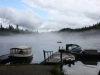 Clearwater Lake misty fisherman