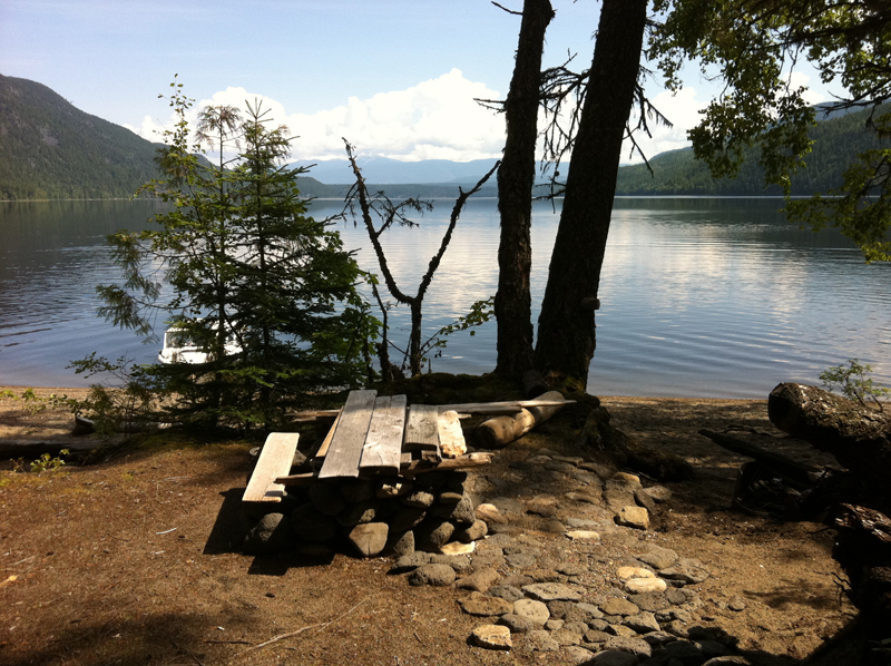 Mahood Lake - boat access only campsite