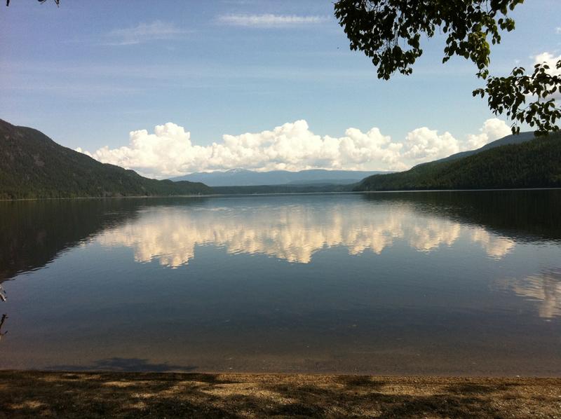 Mahood Lake - water access site looking east