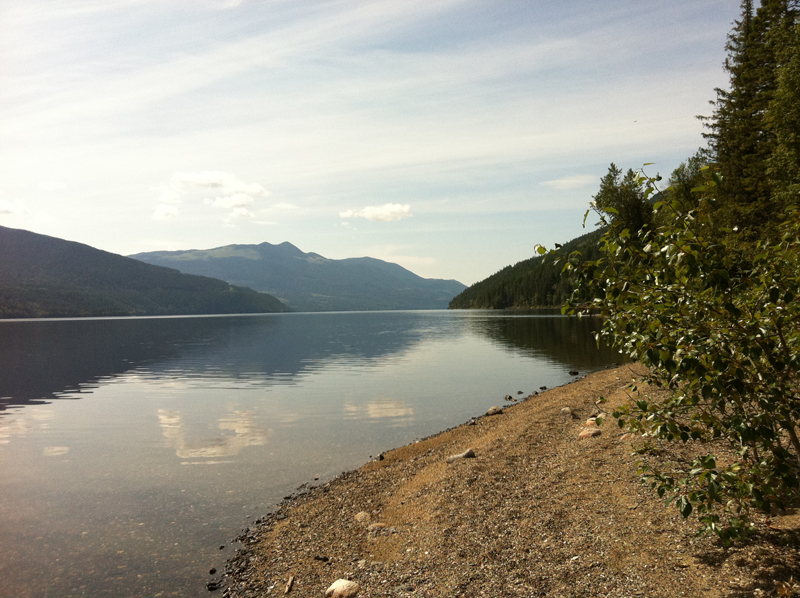 Mahood Lake - water access site looking west