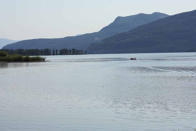 Mahood Lake fisherman