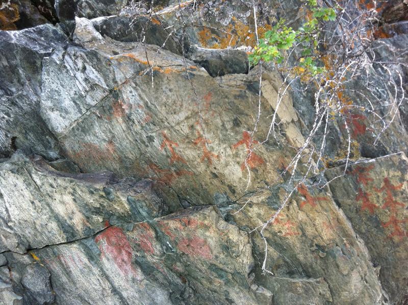 Mahood Lake petroglyphs