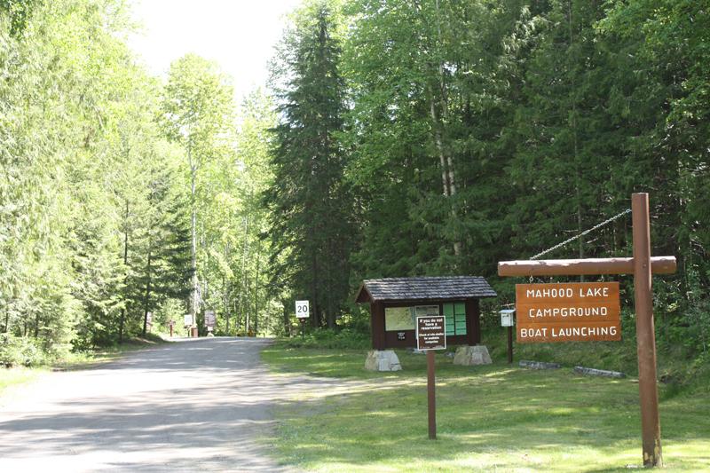 Mahood Lake campground entrance