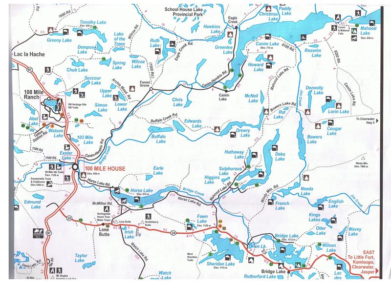 Mahood Lake access map