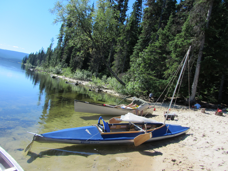 Site 3 - Sandy Point with Klepper sailboat