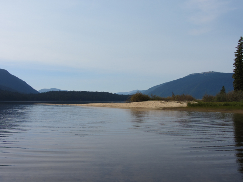 Site 2 - Murtle Lagoon South - looking towards Central Mountain