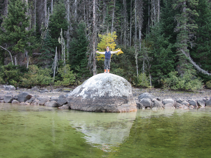 Site 3 - Sandy Point boulder in fall