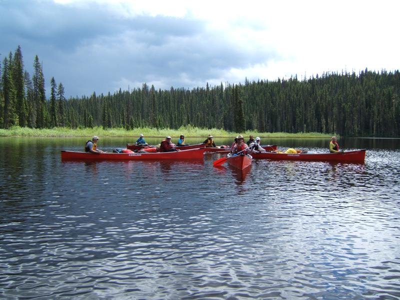 Rental canoes near boat launch