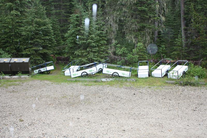 Murtle parking lot gear carts