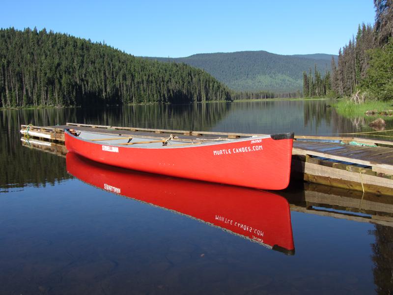 Rental canoe at lagoon