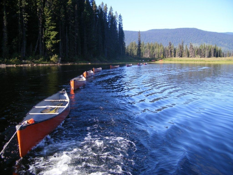 Murtle Lake rental canoes