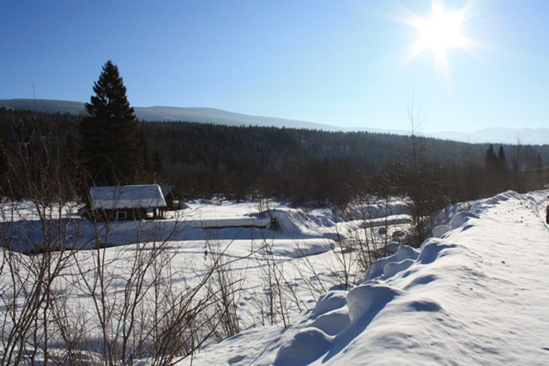 32 km Hemp Creek in winter