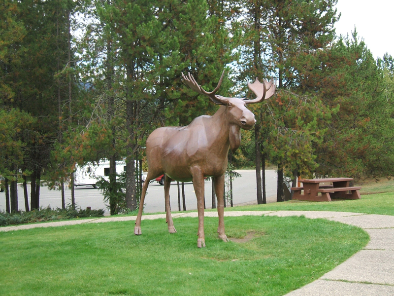 0 km Wells Gray  Information Centre - Jerry the moose