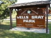 0 km Wells Gray Park restored heritage sign