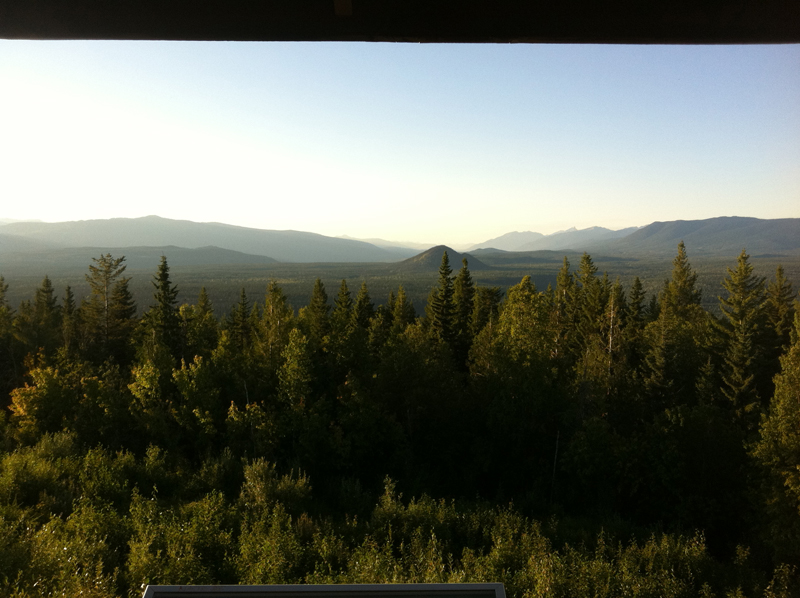 38 km Green Mountain Tower looking towards Pyramid Mountain & Clearwater Lake