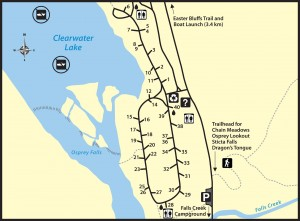 Clearwater Lake Campground Map