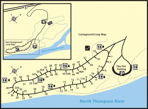 North Thompson Park Campground Map