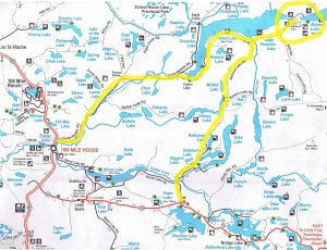 Mahood Lake Access Map
